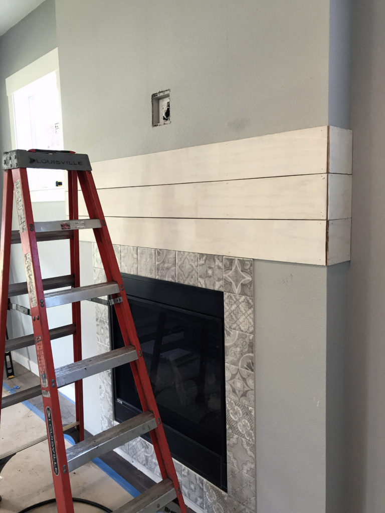 Starting the shiplap